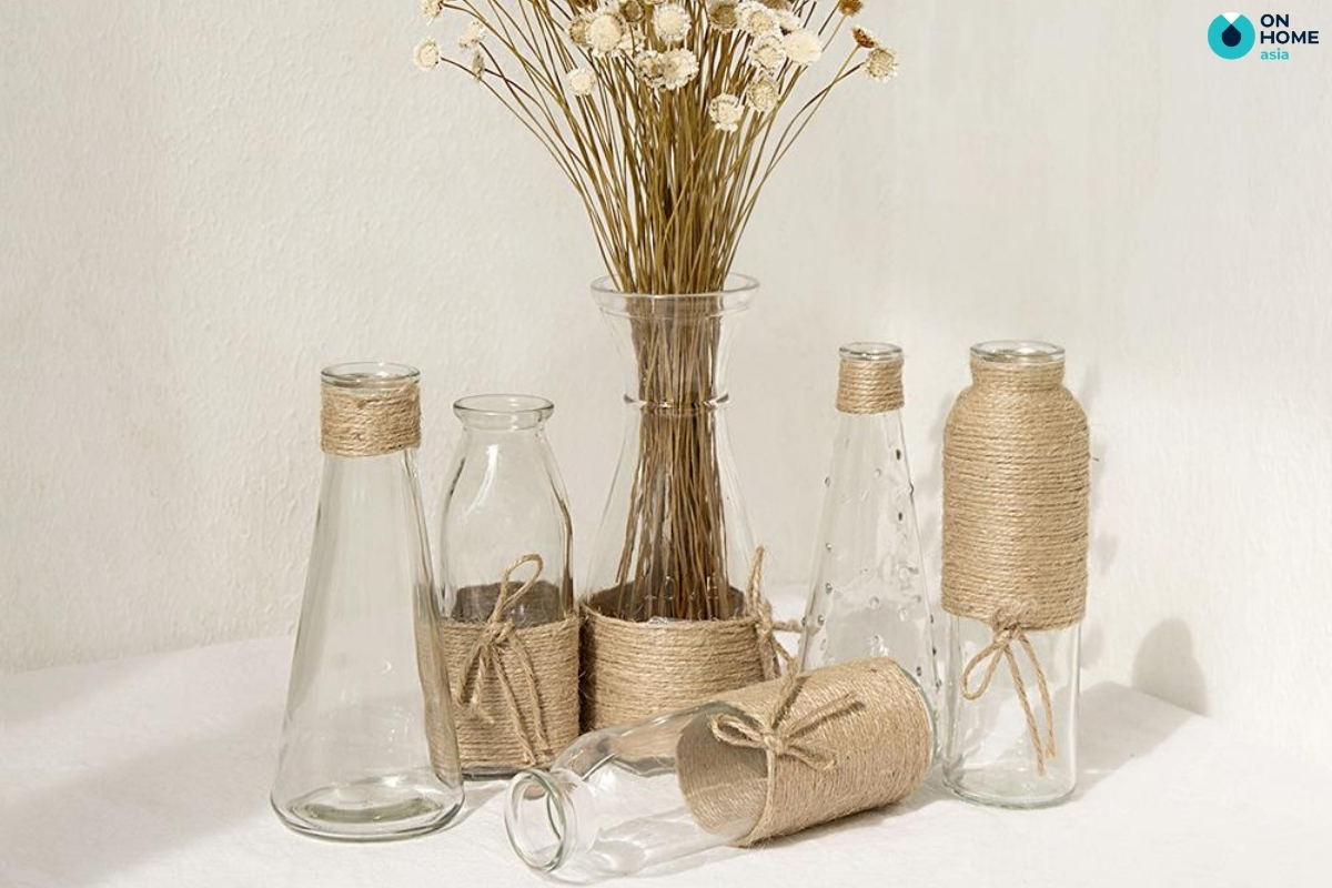 bình hoa handmade trang trí phòng ngủ đơn giản