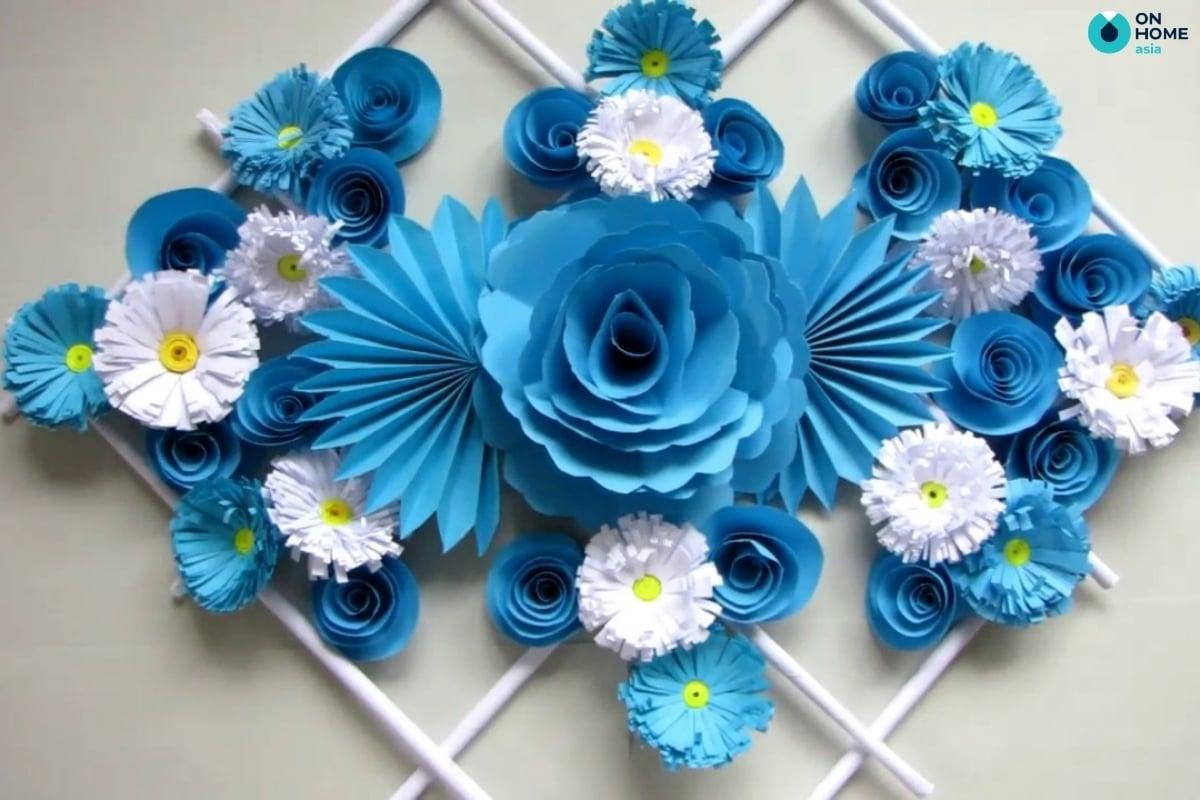 giấy gấp thành hoa đẹp