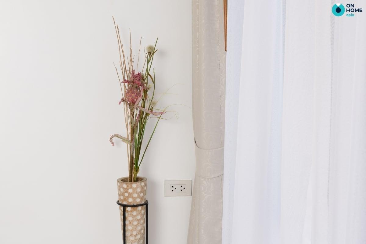 hoa khô độc đáo trang trí phòng ngủ