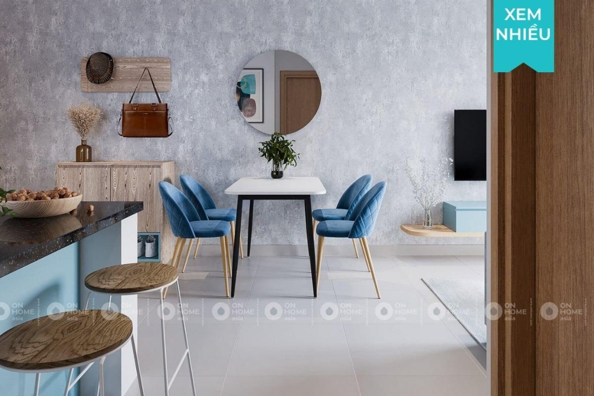 Thiết kế nội thất chung cư 45m2 Compass One