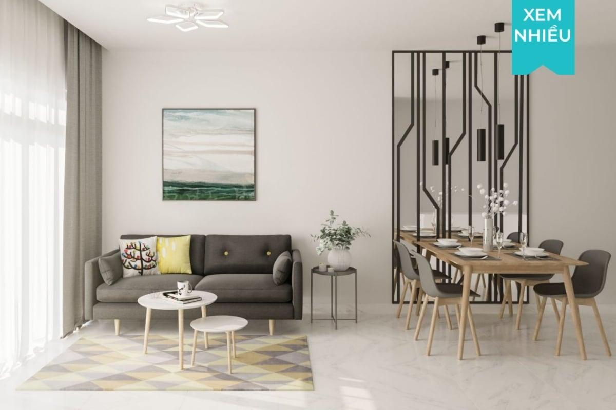 Thiết kế nội thất chung cư 2 phòng ngủ The Habitat