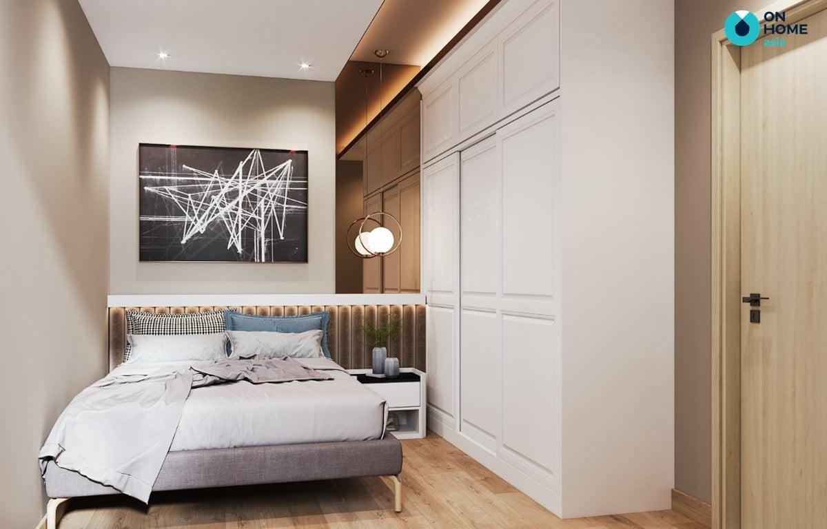 Nội thất phòng ngủ căn hộ Compass One loại 2BRA