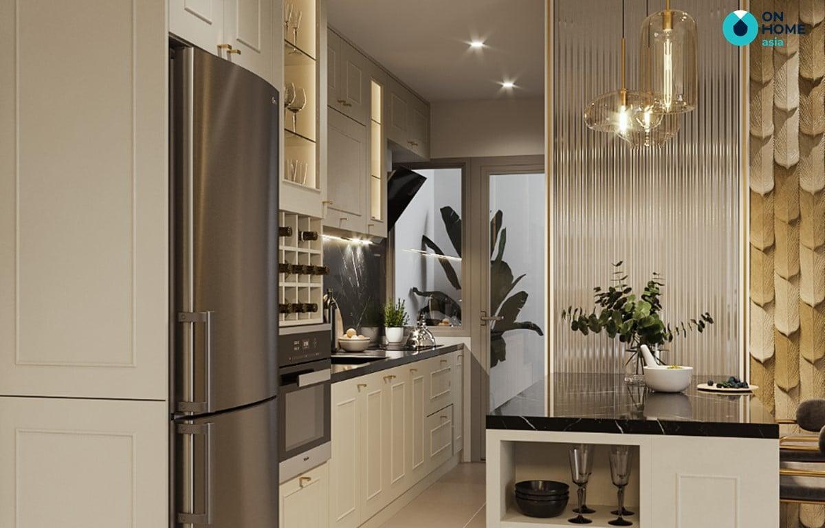 thiết kế nhà bếp phong cách luxury