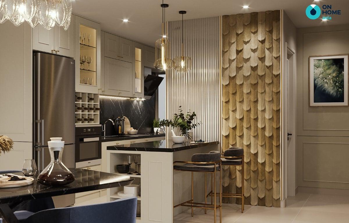 Nội thất phòng bếp đẹp căn 2BRE