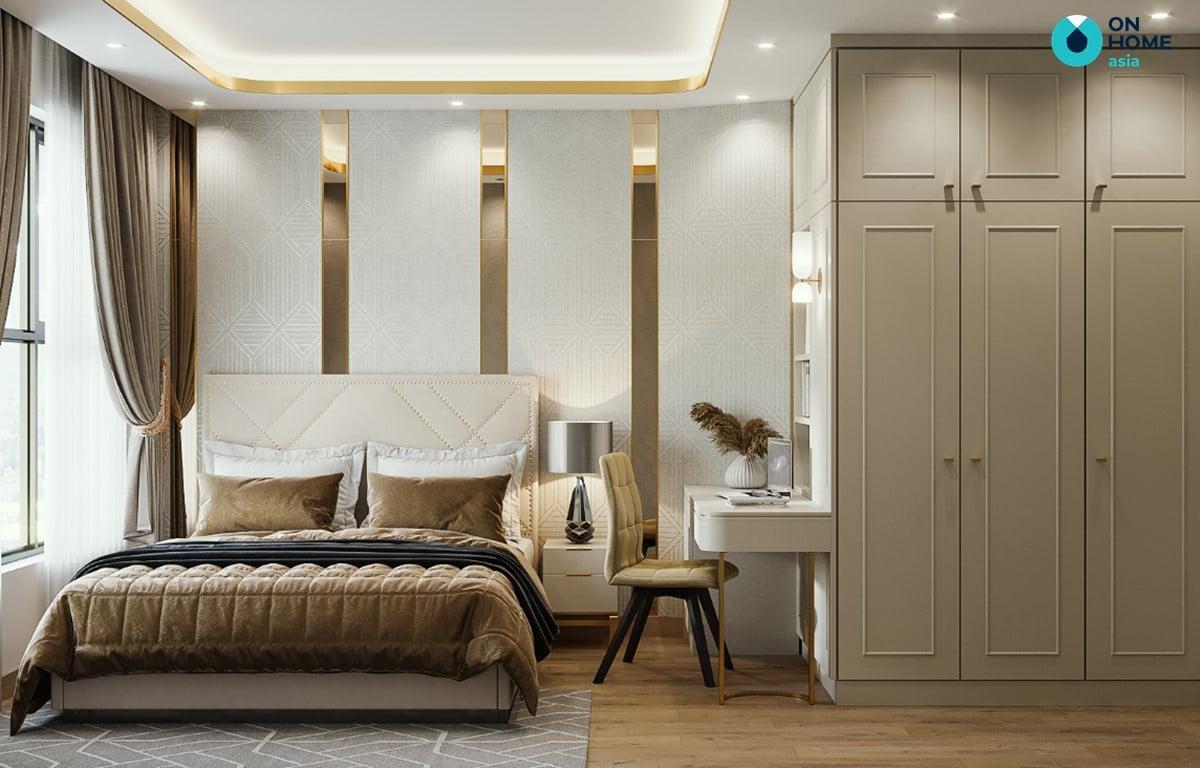 Nội thất phòng ngủ căn hộ Compass One 2BRE