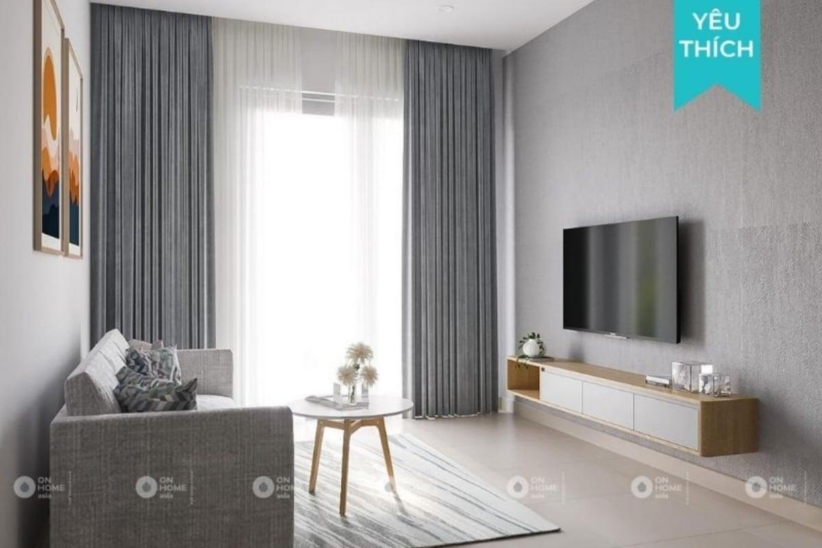 Nội thất chung cư 45m2 với phong cách hiện đại