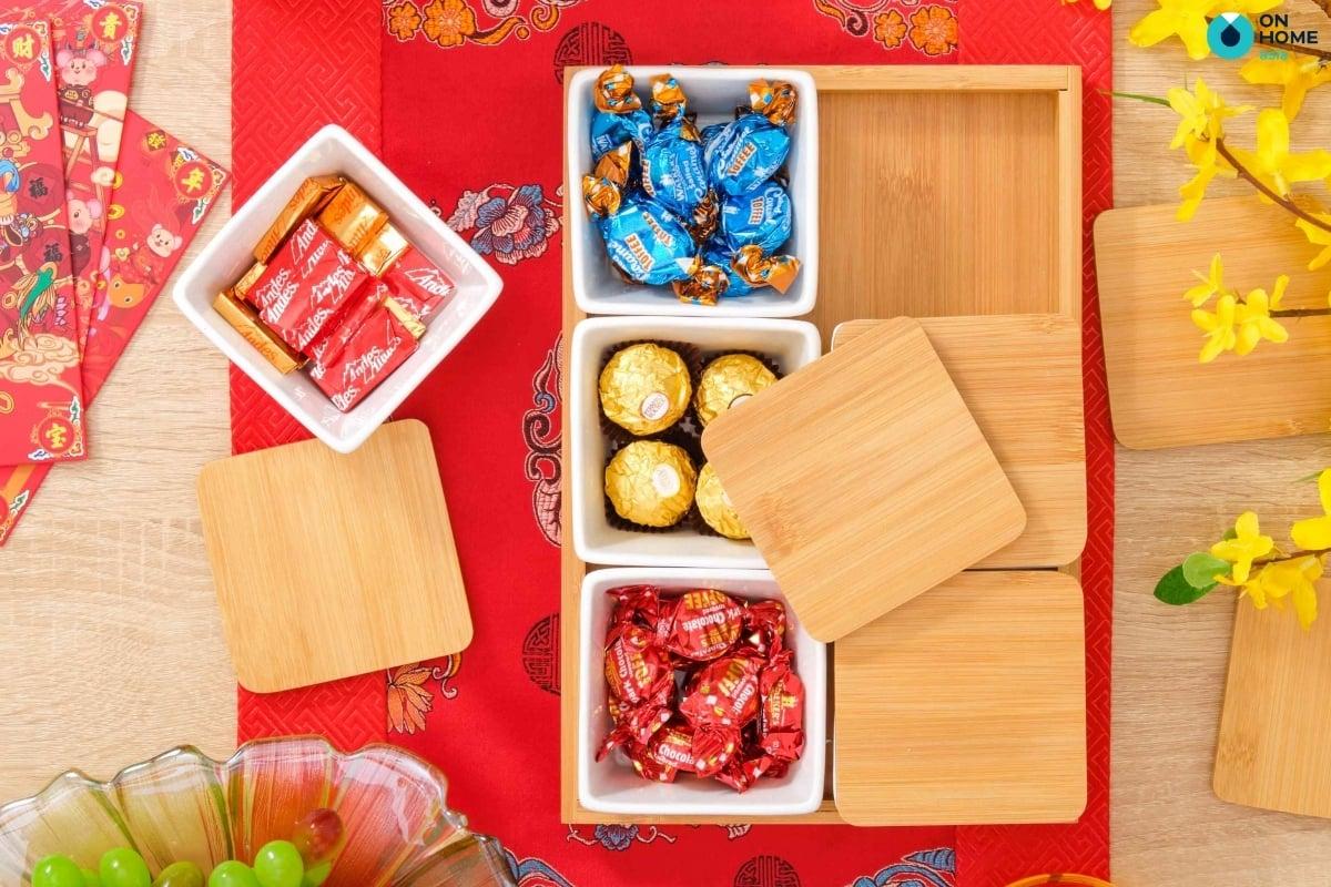 Khay mứt Tết tạo hương vị ngọt ngào và tròn vị cho ngày đầu năm mới