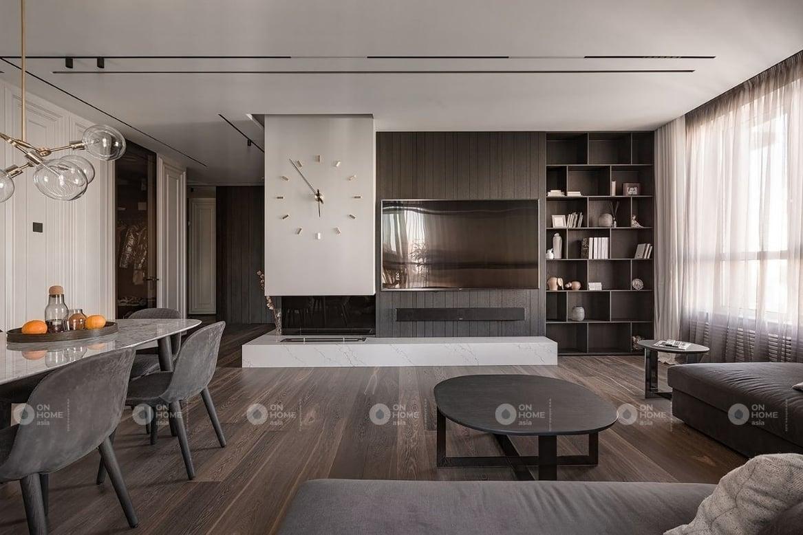 Thiết kế nội thất chung cưcdành cho vợ chồng anh Nam. Với nhu cầu của anh Nam là làm sao cho căn hộ của anh mang phong cách hiện đại, trẻ trung.