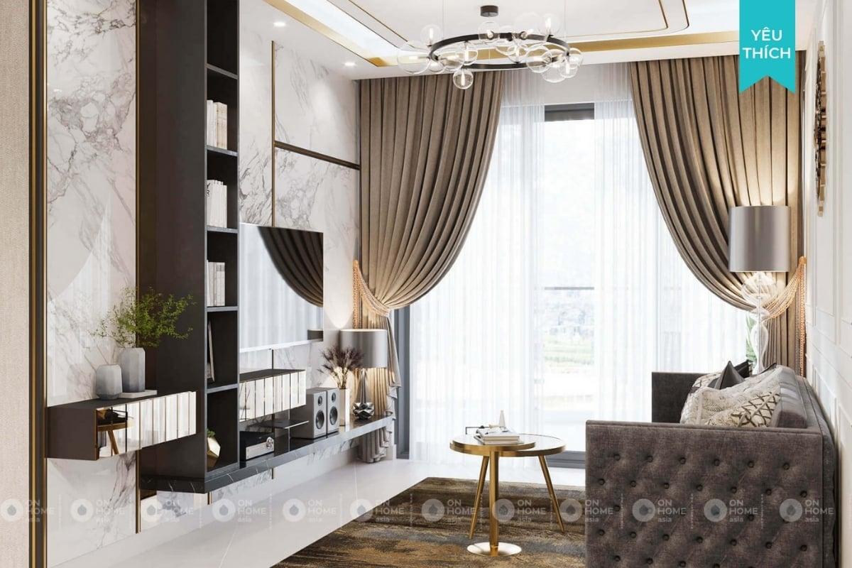 Thiết kế nội thất nhà chung cư 70m2 cực sang trọng
