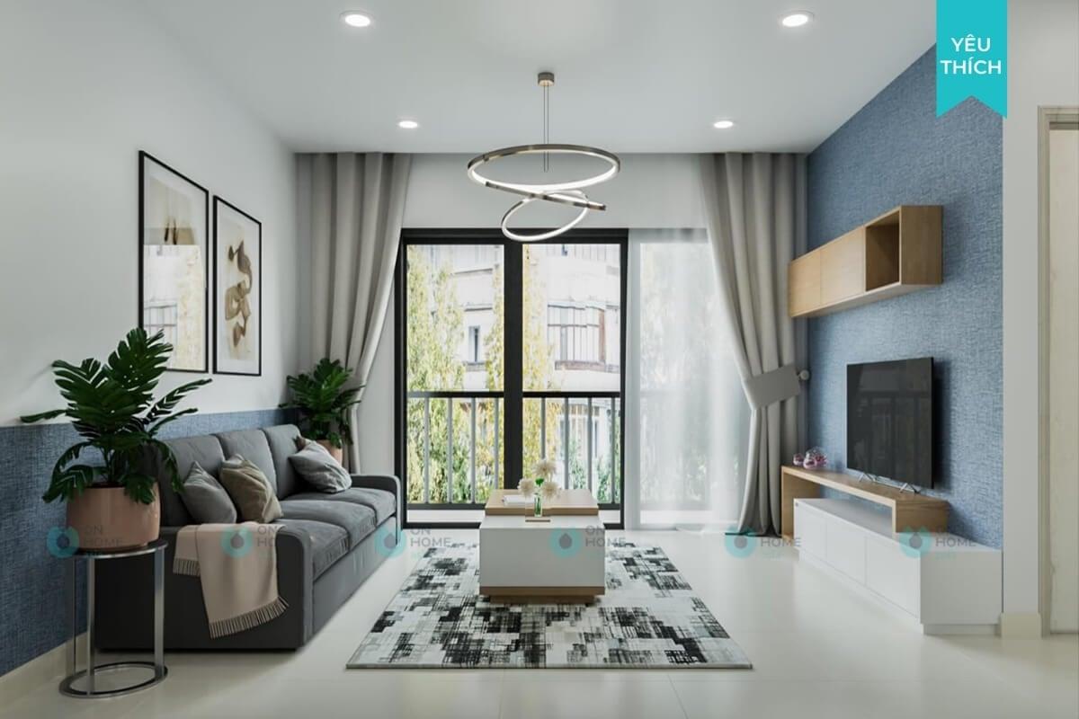 Thiết kế chung cư 70m2 đẹp tiết kiệm tối đa diện tích