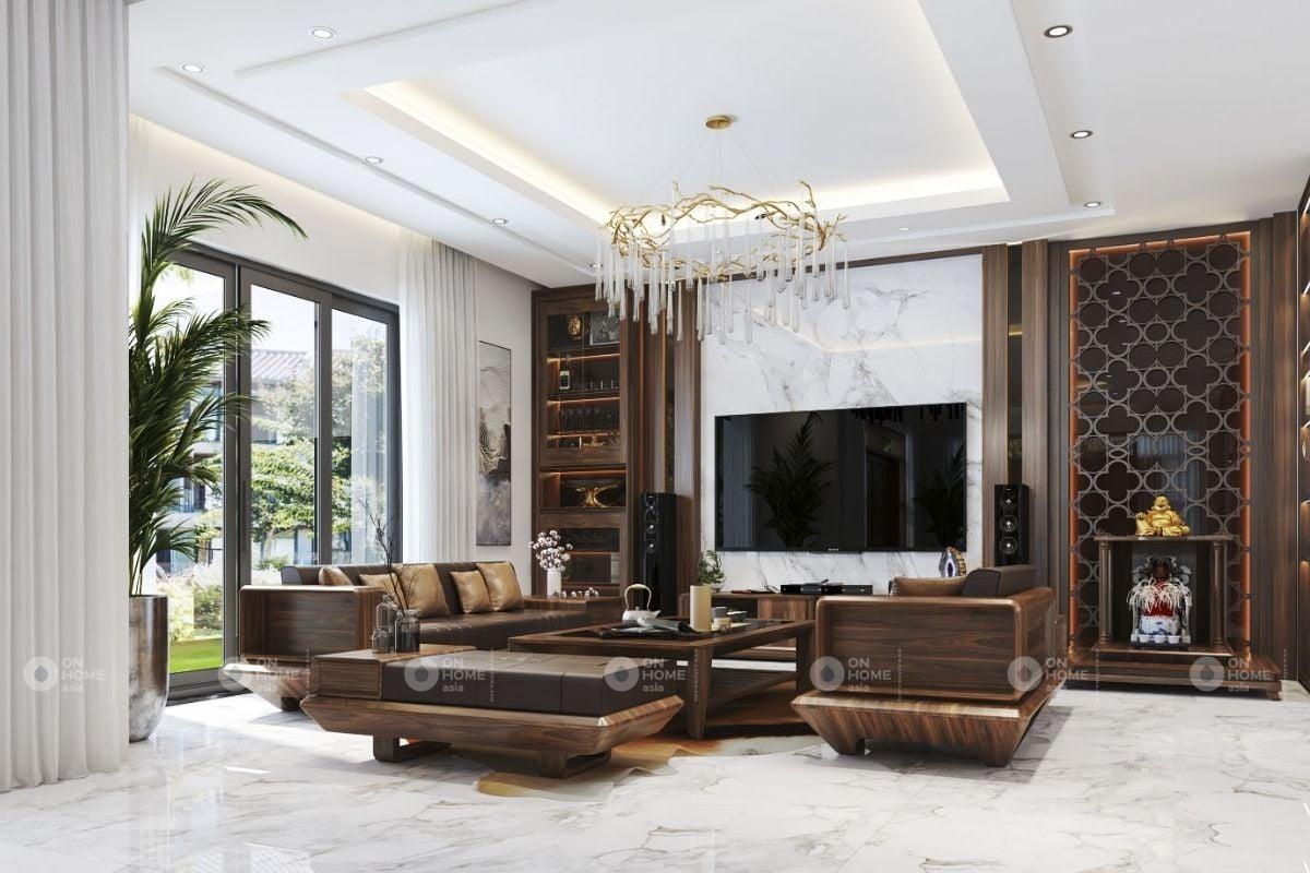 Tủ gỗ phòng khách hiện đại và sang trọng