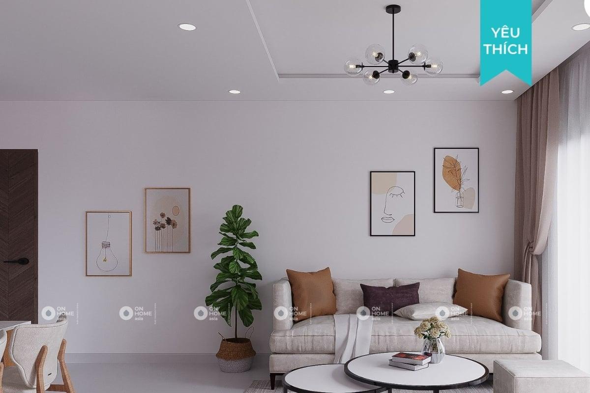 Thiết kế nội thất nhà chung cư 70m2 đẹp ngây ngất