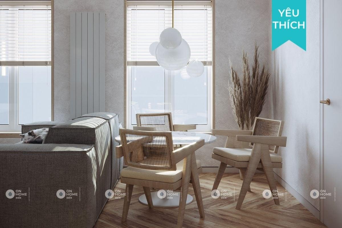 Thiết kế nội thất chung cư 45m2 hiện đại đẹp ngây ngất