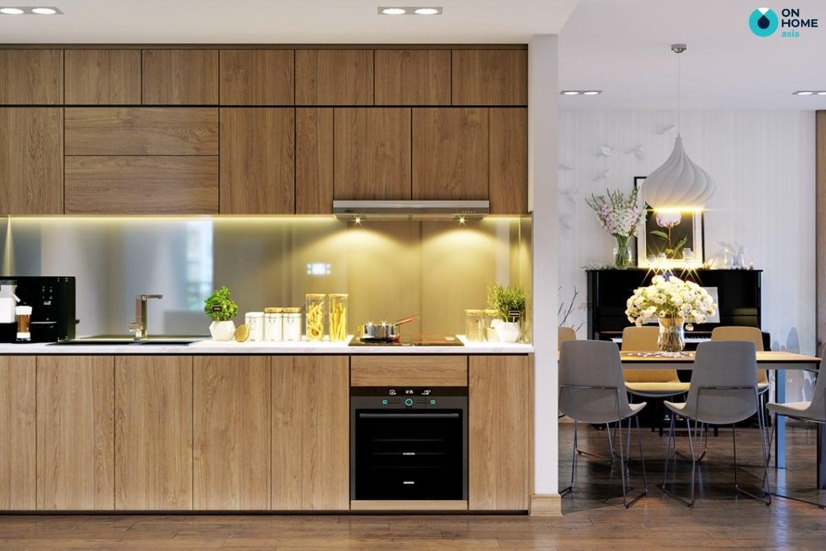 nhà bếp chung cư hiện đại