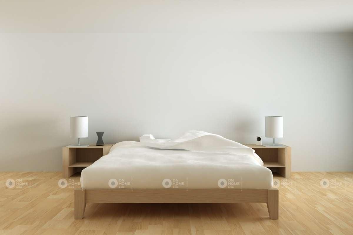 Giường ngủ gỗ tự nhiên đơn giản