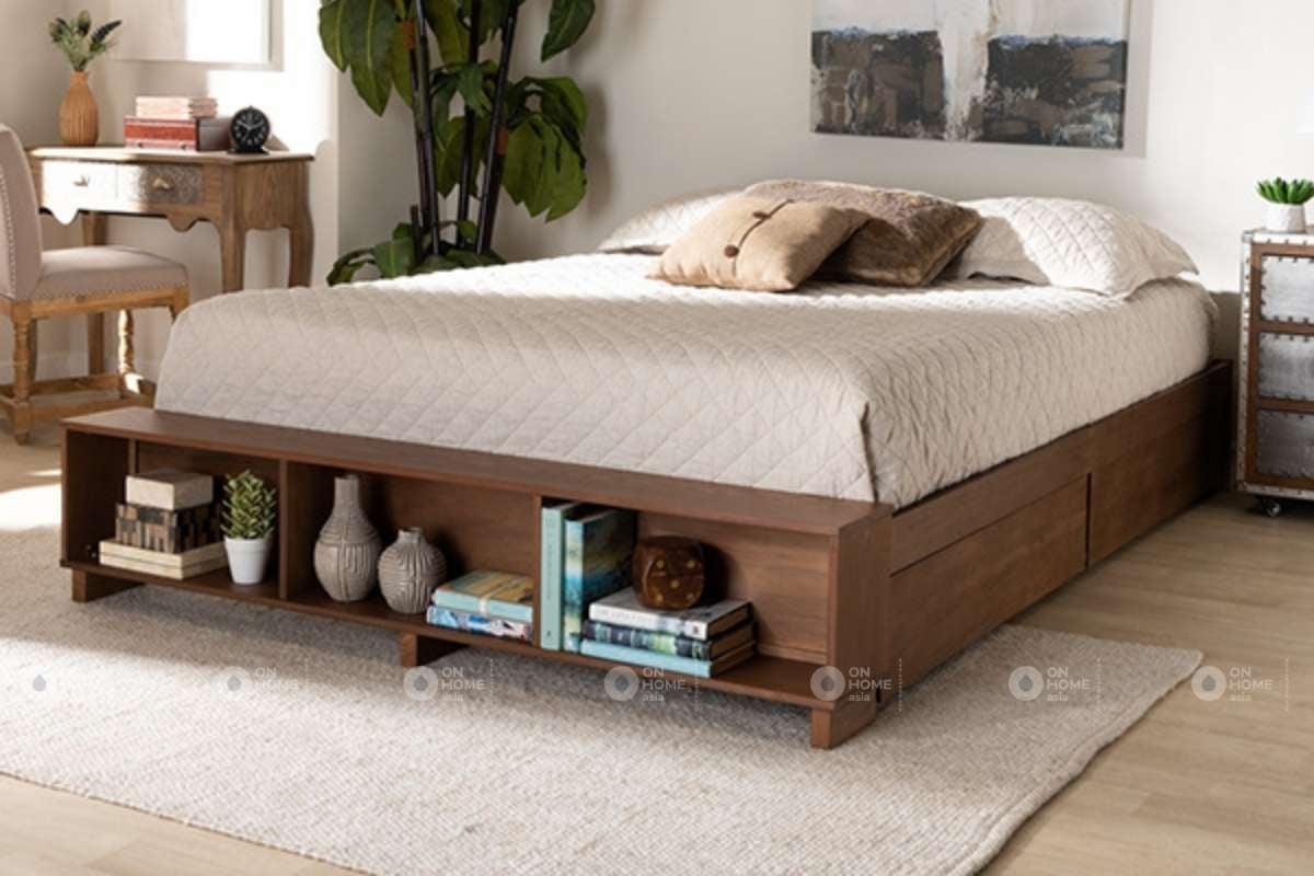 Giường ngủ làm từ chất liệu gỗ tự nhiên