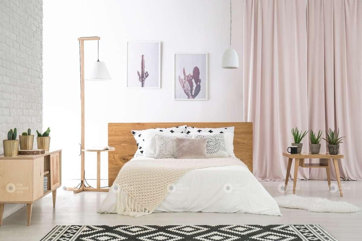 Giường ngủ làm từ gỗ công nghiệp