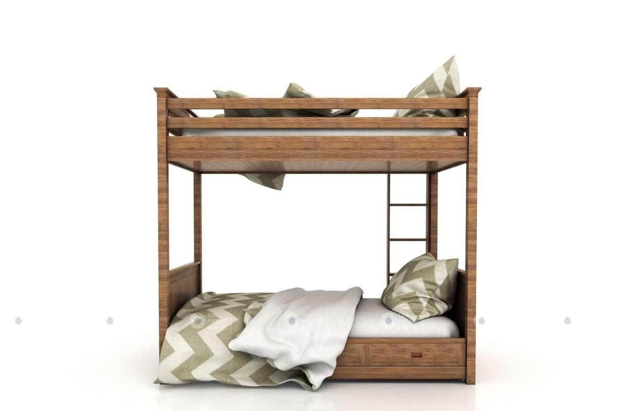 Giường tầng bằng chất liệu gỗ