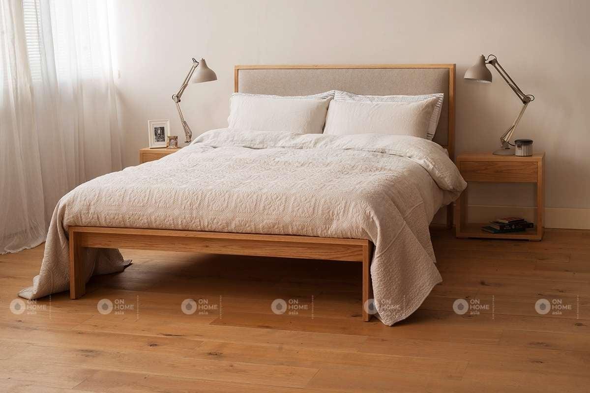 Mẫu giường ngủ bằng gỗ công nghiệp