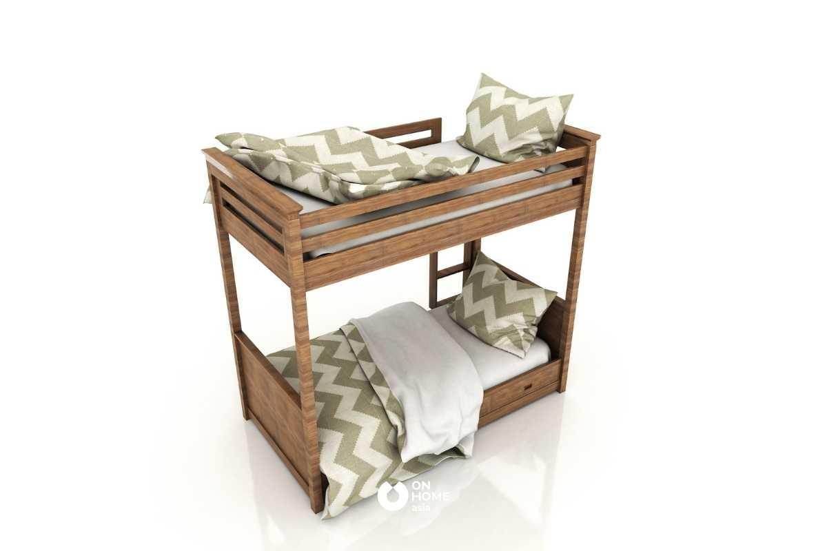 Giường tầng thông minh bằng gỗ đẹp.