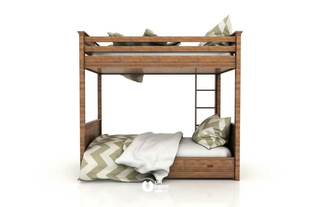 Giường tầng thông minh bằng gỗ tự nhiên đẹp.