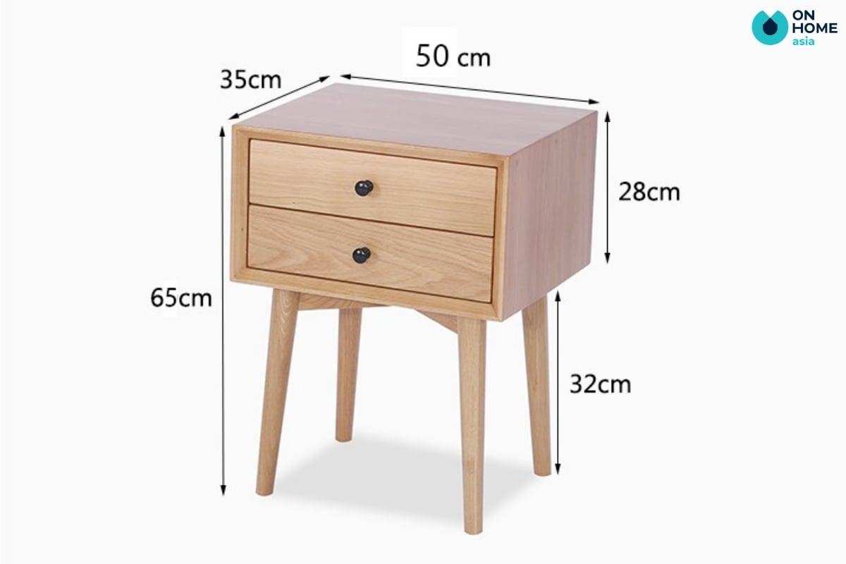 kích thước tab đầu giường thông thường
