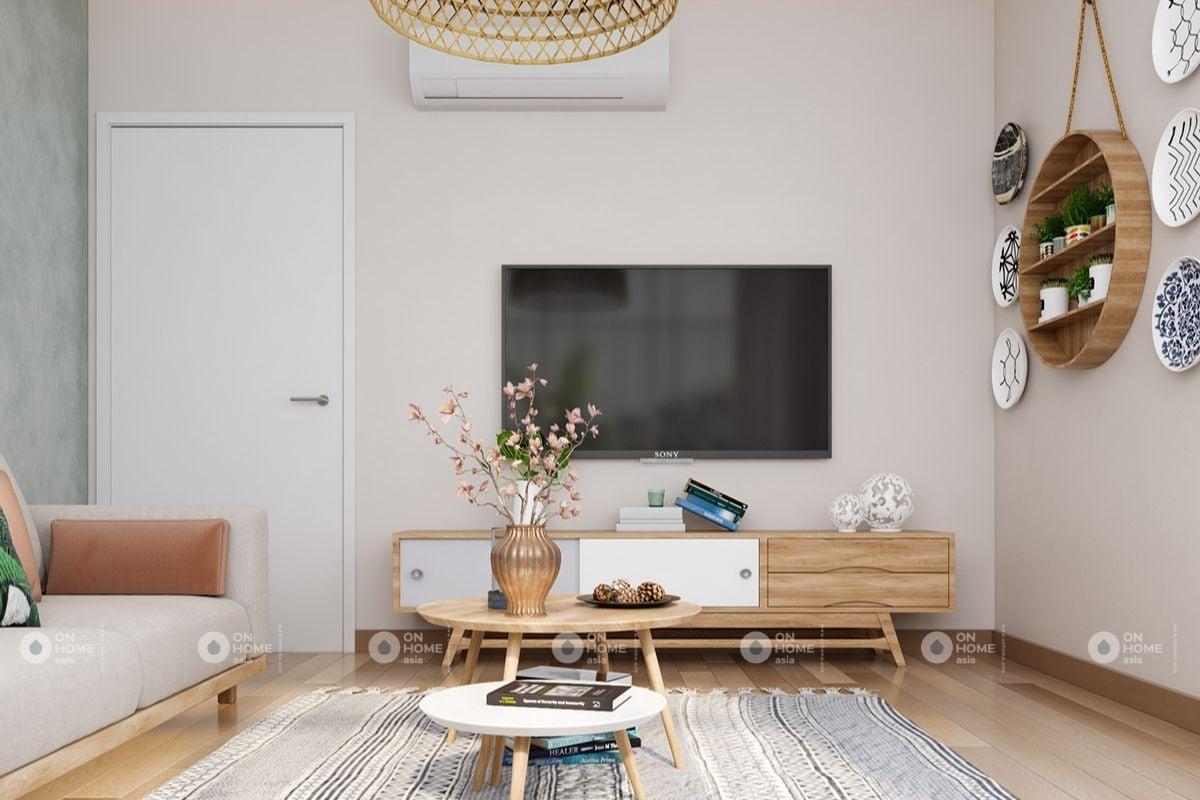 Mẫu phòng khách tối giản nội thất