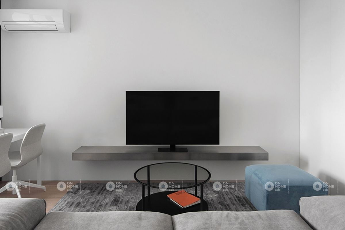 Sử dụng gam màu trung tính cho phòng khách đơn giản