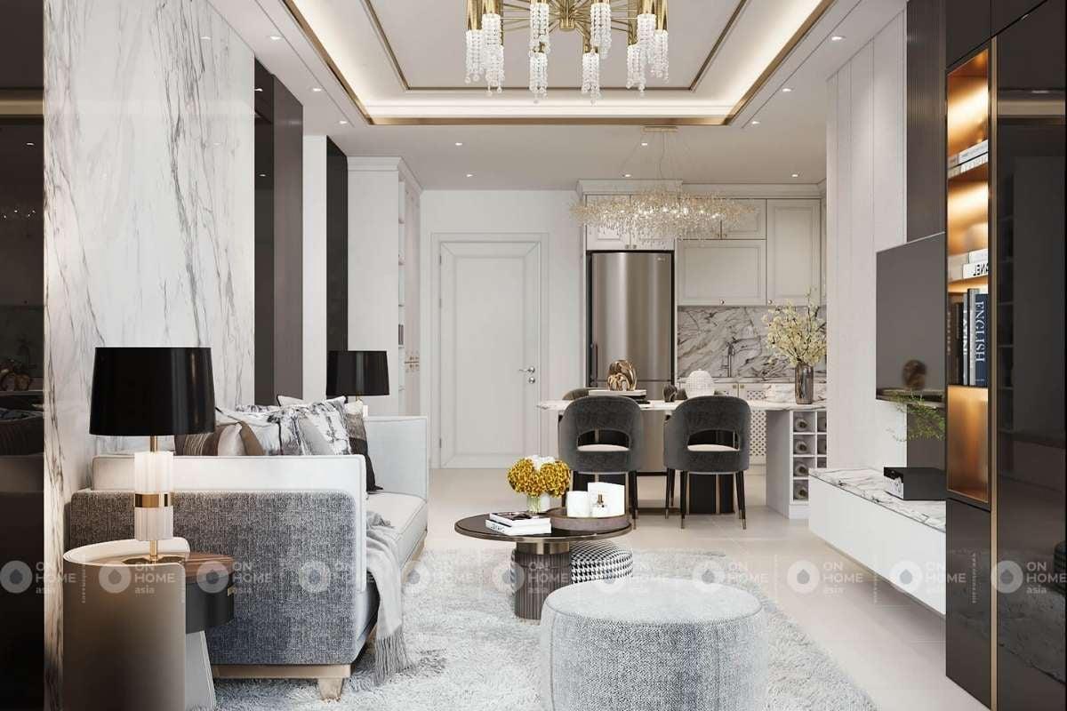 Ánh sáng là yếu tố quan trọng trọng kiến trúc phòng khách đẹp