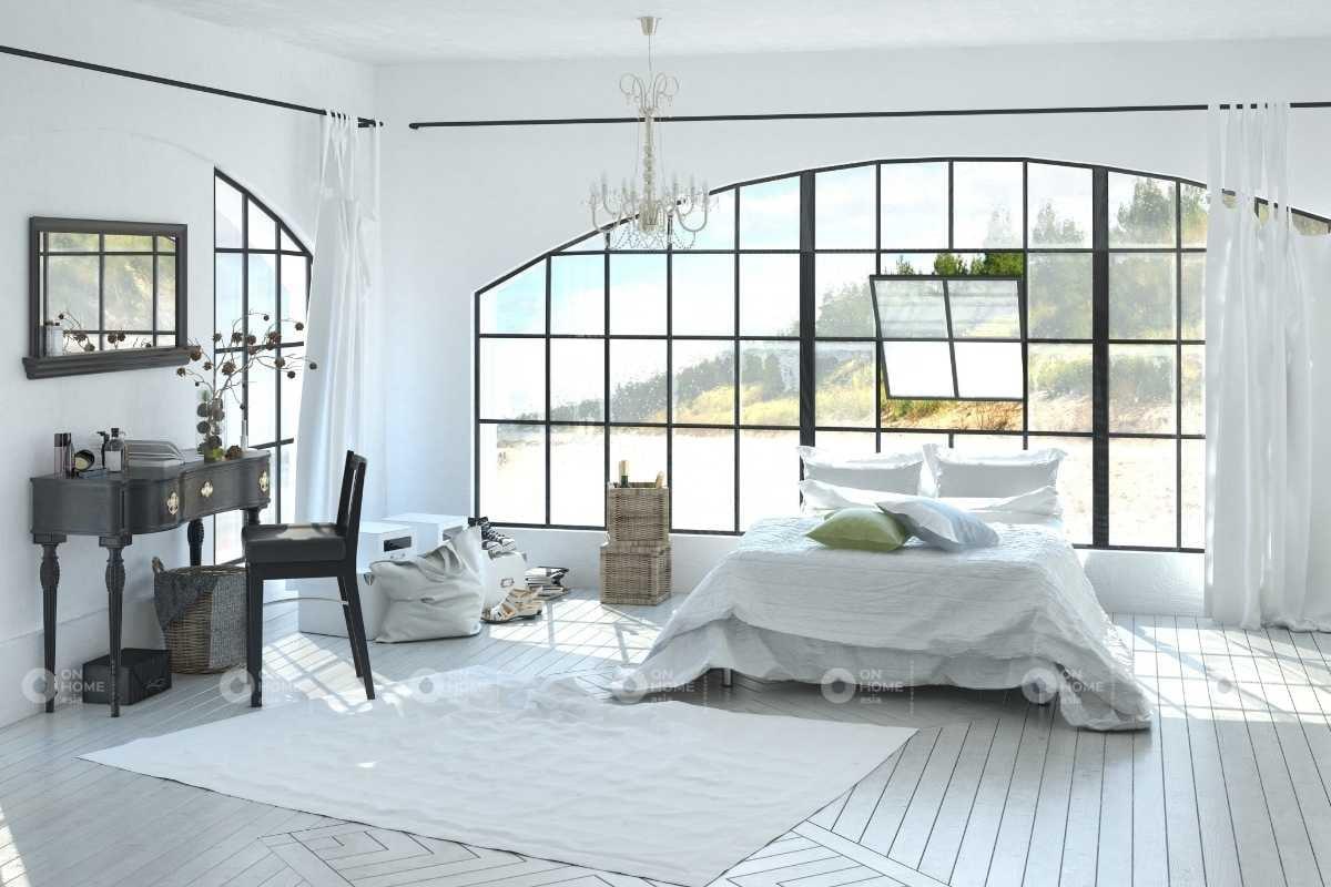 Màu sơn phòng ngủ phù hợp với thị giác người dùng