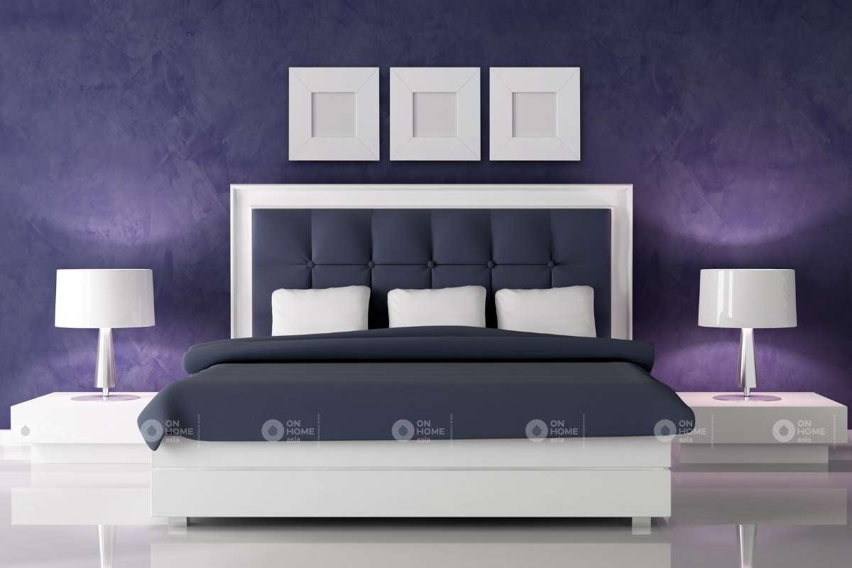 Nội thất phòng ngủ màu tím