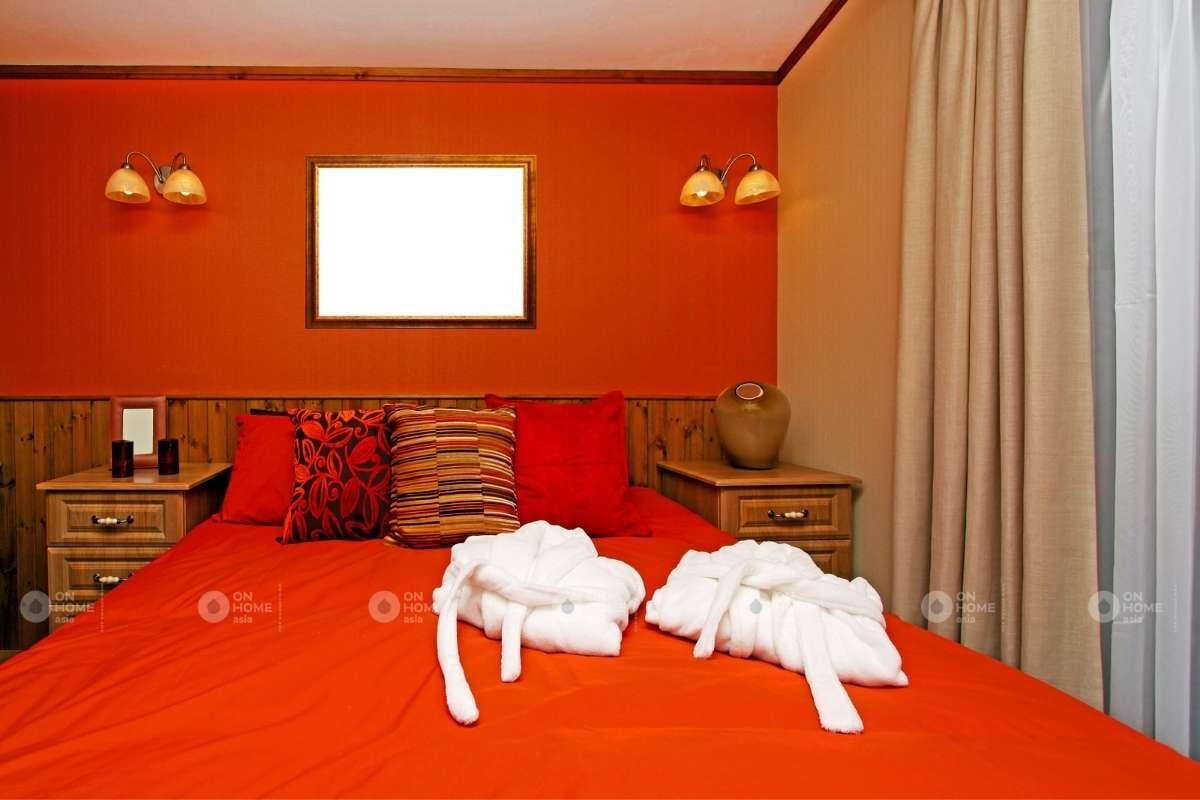Phòng ngủ màu đỏ đẹp