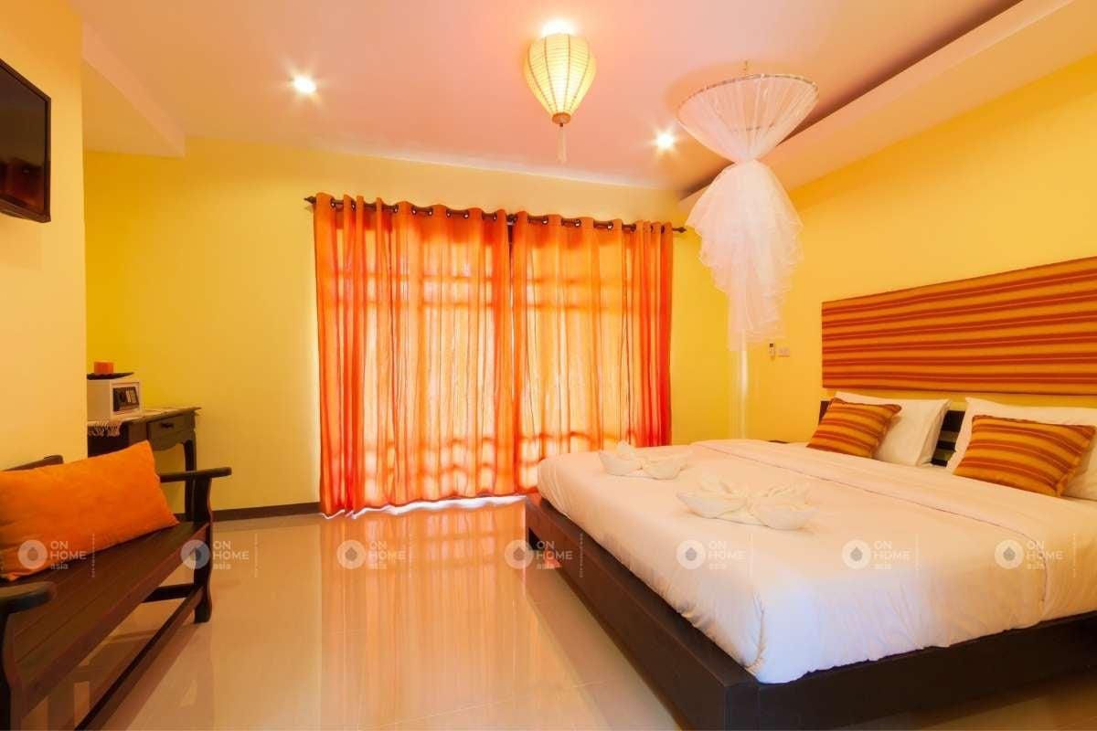 Sơn tường màu vàng dành cho phòng ngủ