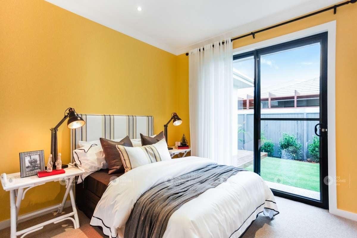 Sơn tường phòng ngủ màu vàng đẹp