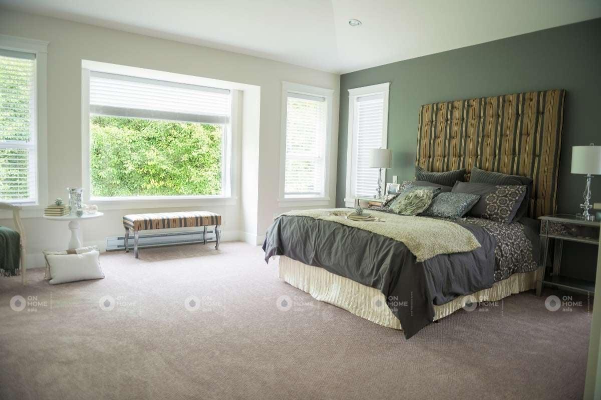 Sơn tường phòng ngủ màu xanh lá