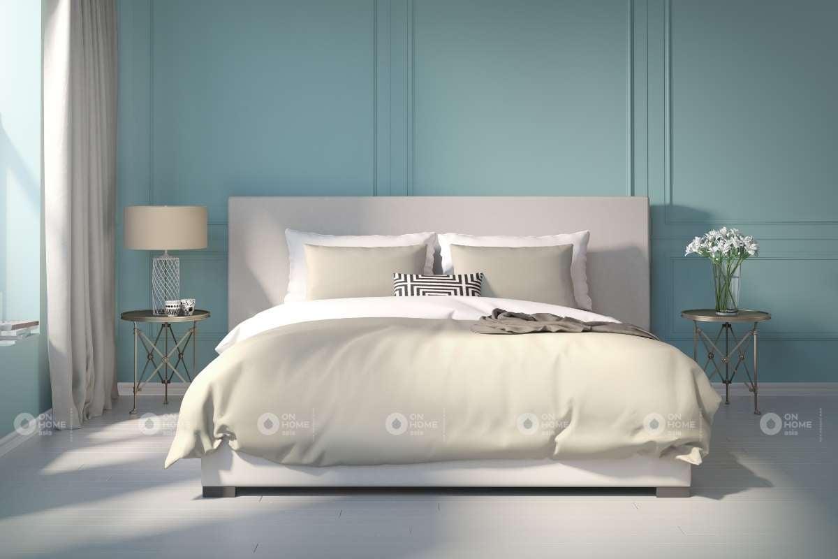 Sơn tường phòng ngủ màu xanh nhạt