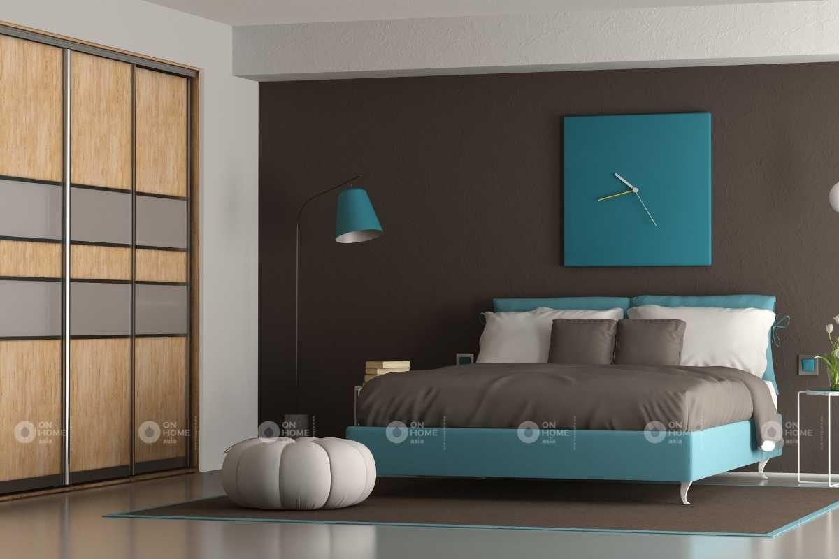 Tường phòng ngủ màu trung tính