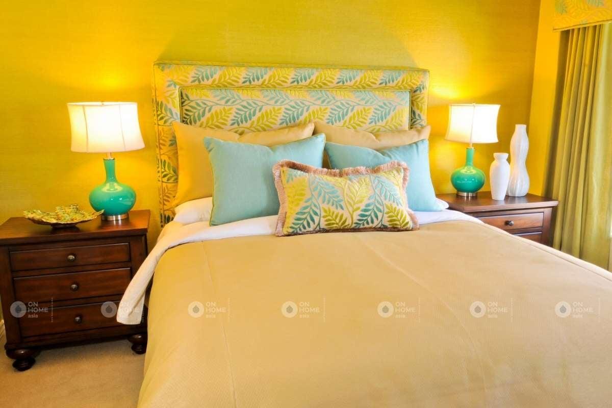 Tường phòng ngủ màu vàng