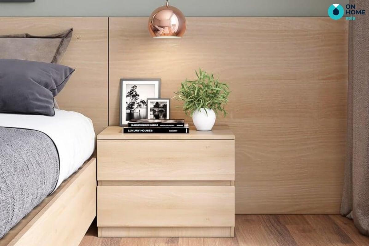 tủ đầu giường gỗ công nghiệp 2 ngăn