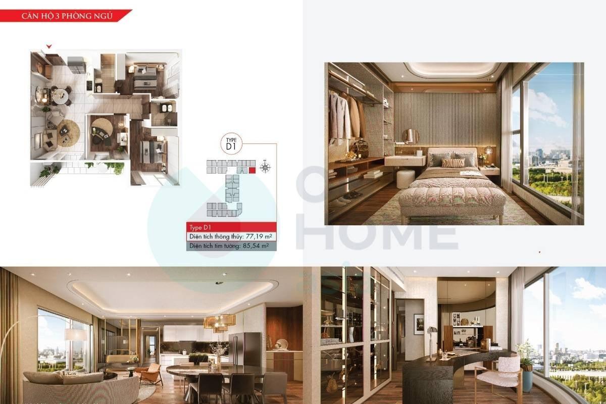 Mặt bằng căn hộ chung cư 3 phòng ngủ