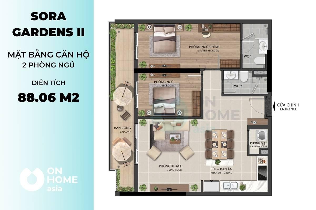 Mặt bằng B10 của dự án căn hộ chung cư Sora Gardens 2