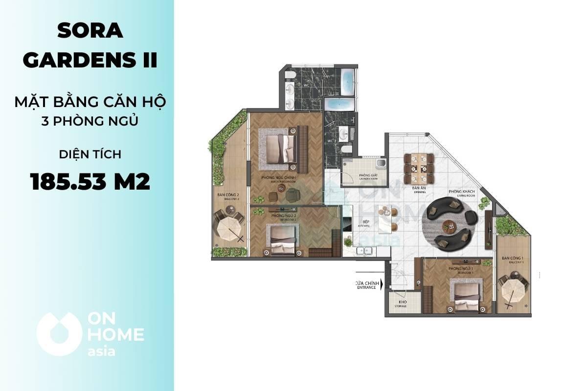 Mặt bằng căn hộ Z2