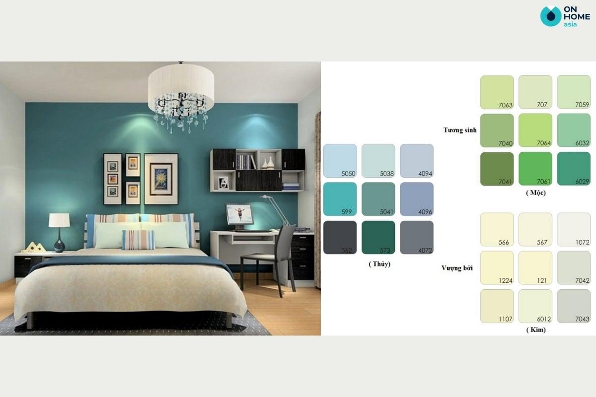 Màu sơn phòng ngủ cho gia chủ mệnh thủy
