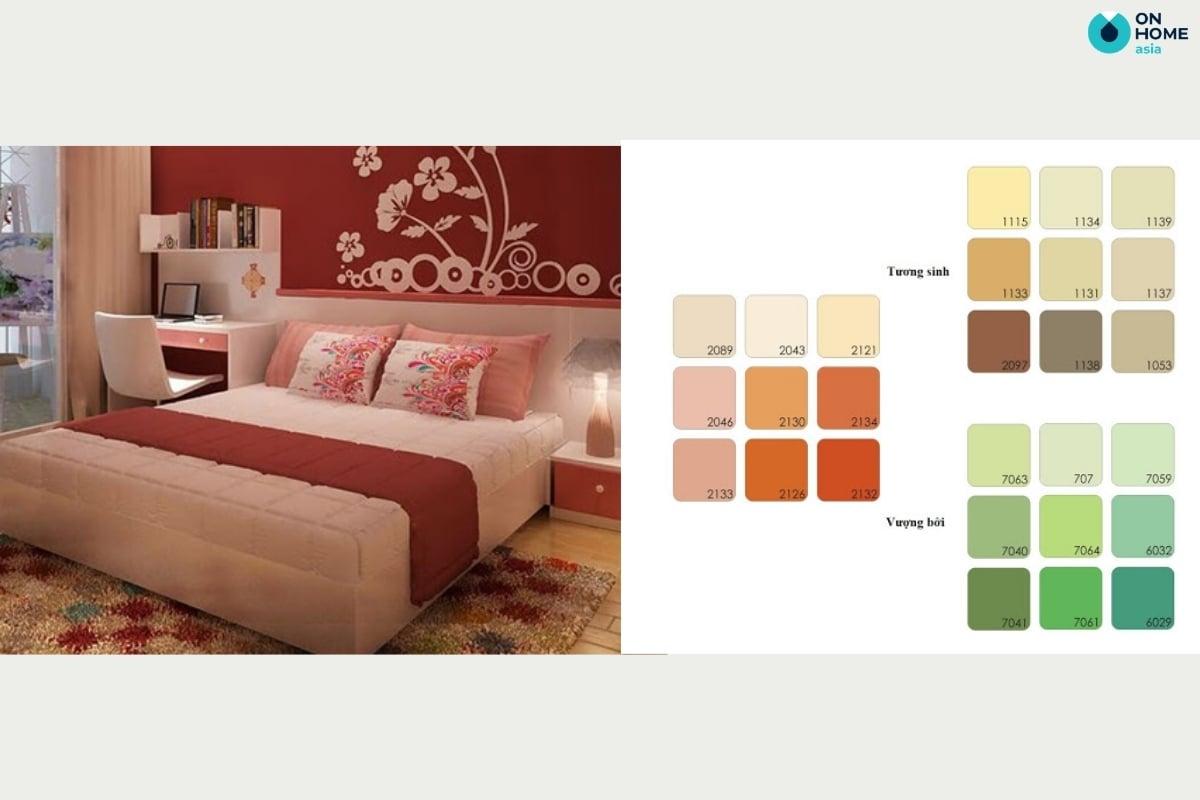 Màu sơn phòng ngủ cho gia chủ mệnh hỏa