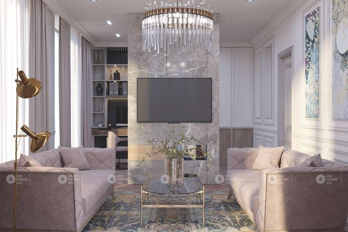 Trang trí nội thất phòng khách cổ điển