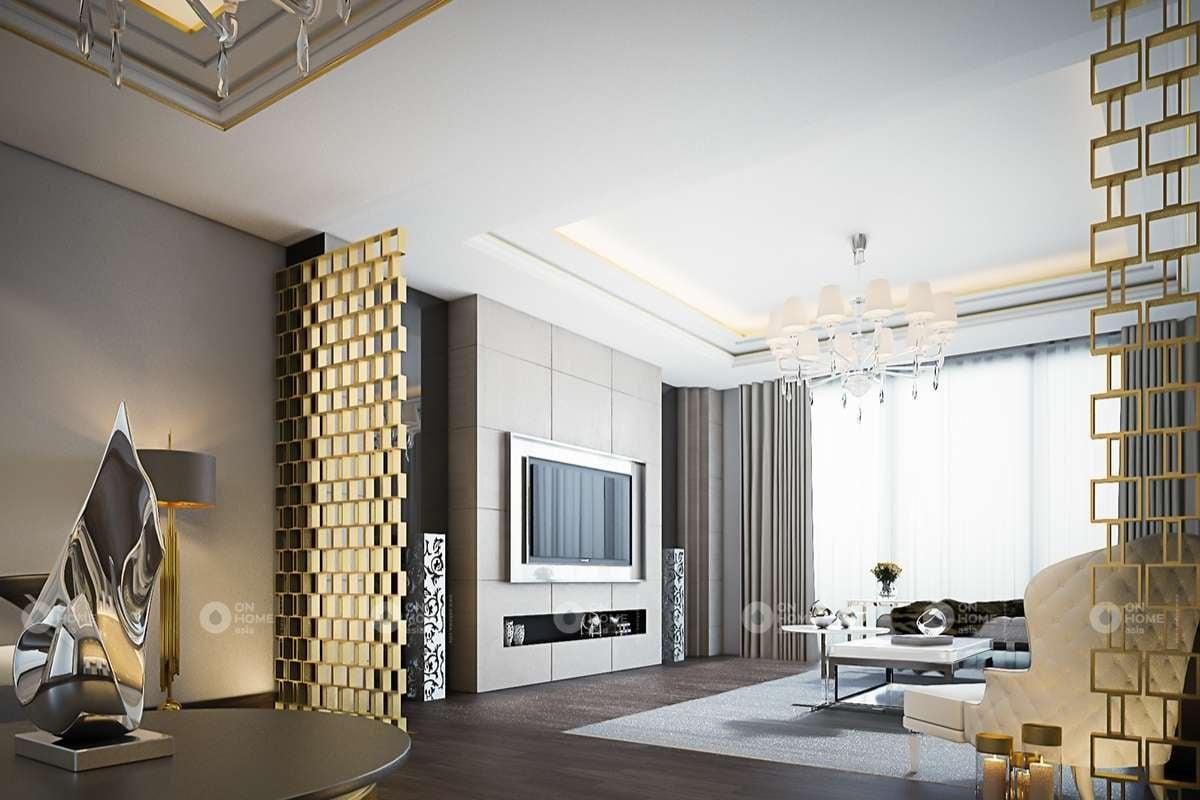 Không gian phòng khách sang trọng và hiện đại
