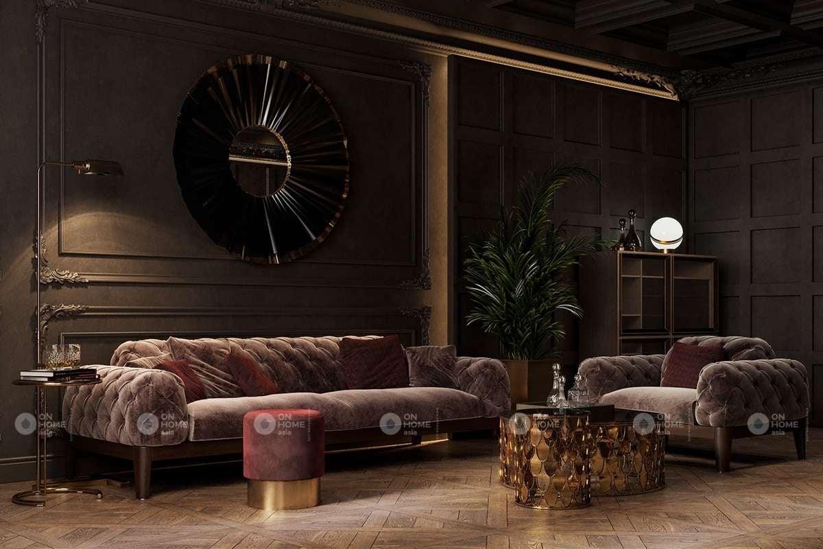 nội thất phòng khách hiện đại và sang trọng