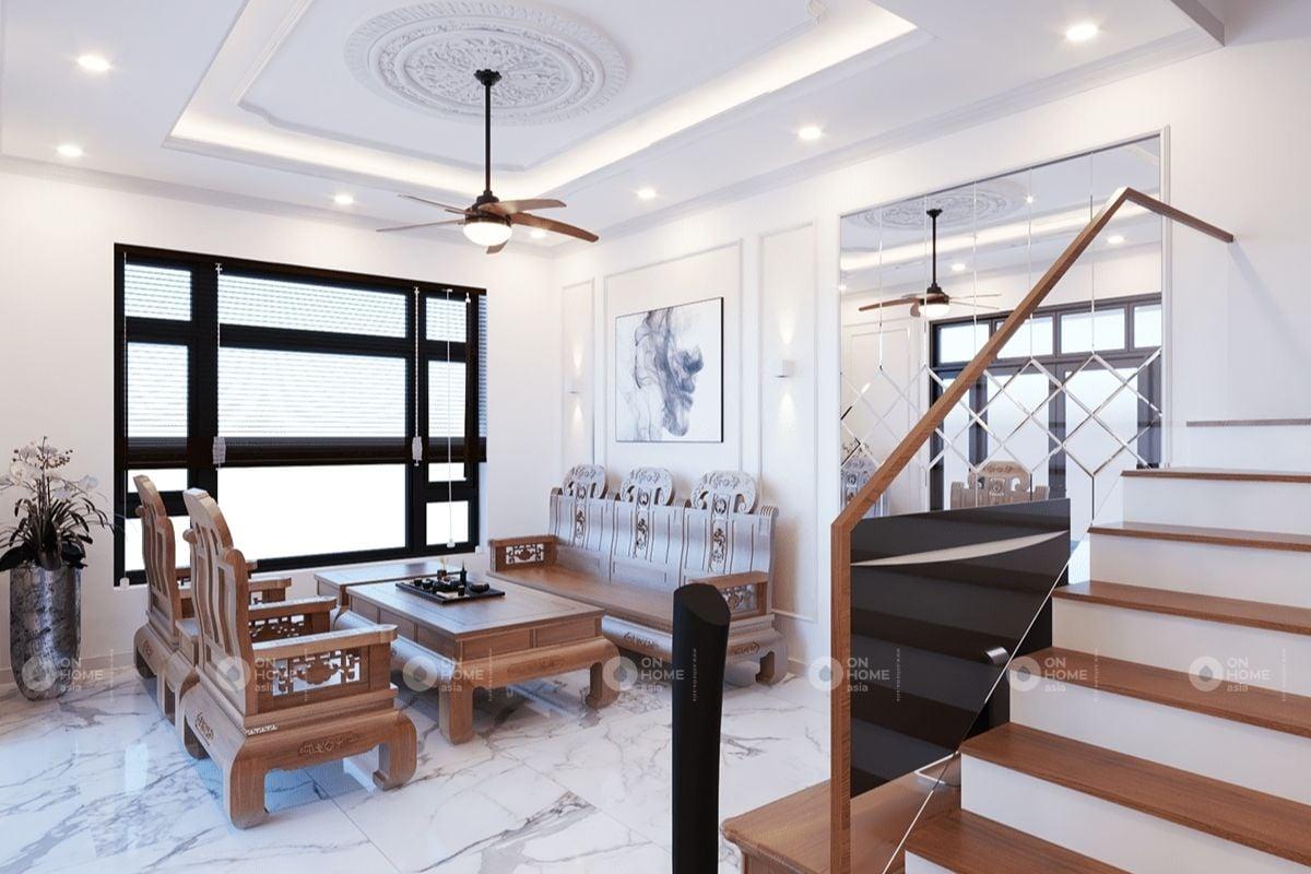 Không gian nội thất bằng gỗ tụ nhiên