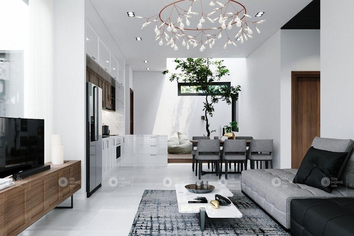 Phòng khách nhà ống hiện đại