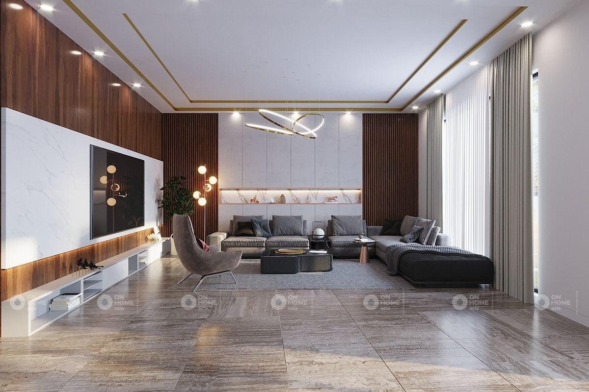 Không gian phòng khách cổ điển có diện tích lớn
